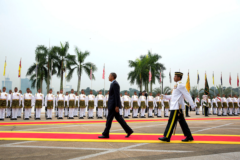 President Obama is the first American president to visit Malaysia since Lyndon B. Johnson in 1966. 2014. (Flickr Creative Commons/The White House)