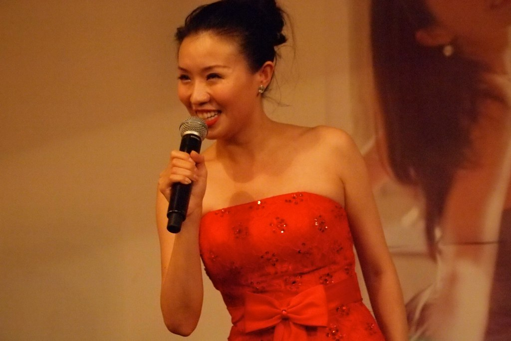 Ruhan Jia, a Chinese singer prepped with English and classical music training to succeed internationally. 2012. (May S. Young/Flickr Creative Commons)