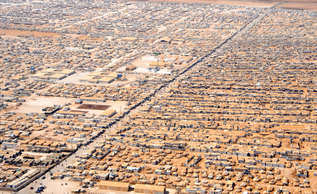An aerial shot of Za'atari refugee camp in Jordan. July 18, 2013. (State Department/Creative Commons)