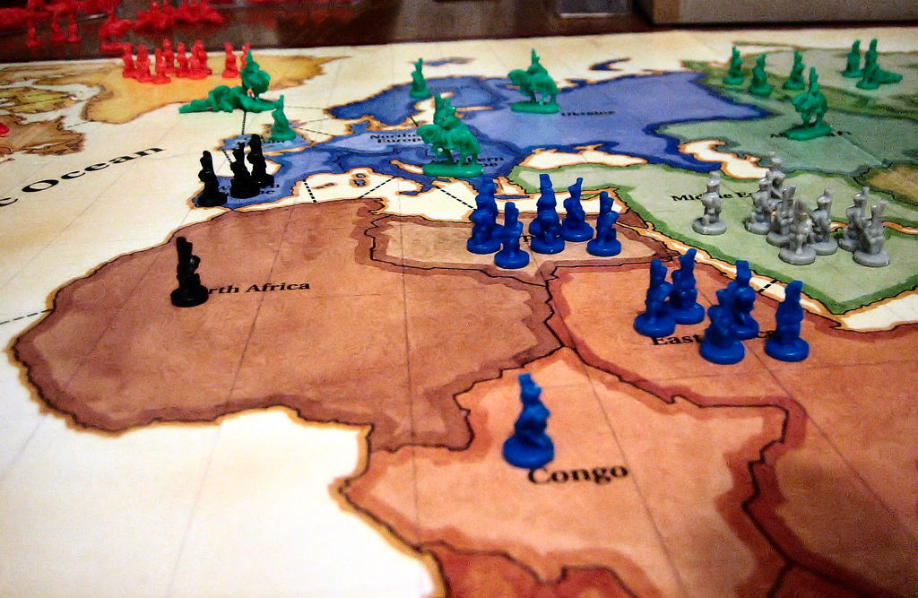 The board game 'RISK.' RISK nicely depicts the need for a coherent strategy of world order in a world populated by great powers. (Ben Stephenson/Flickr Creative Commons)
