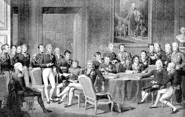 The Congress of Vienna, the meeting at which the Concert of Europe was founded after the Napoleonic Wars and the Westphalian international system was preserved for another hundred years. It is high time for a new, 21st Century Concert of Earth to take form, and the great powers of every region to respect it. (J.B. Isaben/Wikimedia Commons)