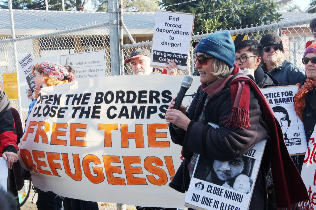 Australians protest Tony Abbot and Scott Morrison's immigration policy. July 4, 2014. (Takver/Flickr Creative Commons)