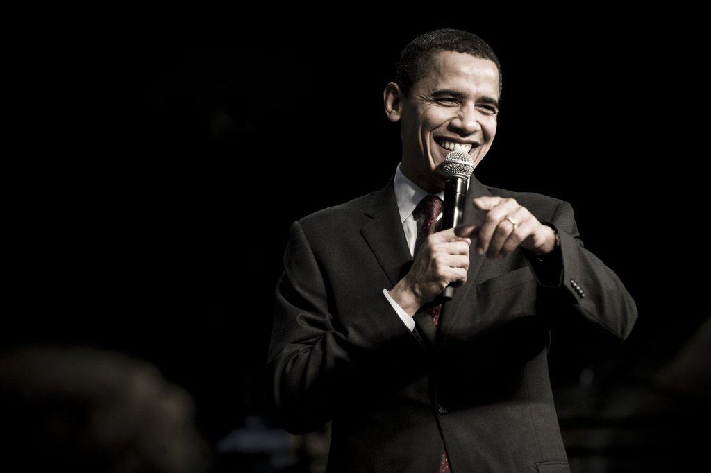 Obama at a rally in South Carolina. 2008. (Joe Crimmings, Flickr Creative Commons)