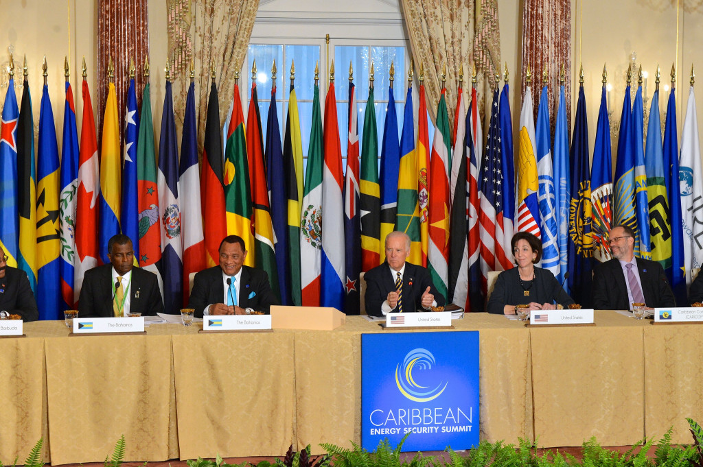 Vice President Joe Biden presides over the Caribbean Energy Security Summit, speaking to Caribbean and world leaders. January 26, 2015. (US Department of State/Creative Commons)