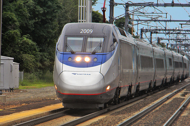 Acela Express, currently the US's only high-speed rail line. July 24, 2011. (Michael Kurras/Wikimedia Commons)