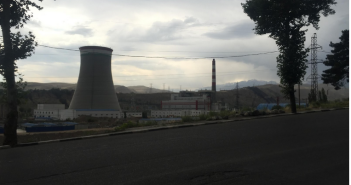 A thermal power plant near the capital, constructed with significant aid from the Chinese. When construction finished in 2014, the project promised to significantly mollify Dushanbe's situation of frequent blackouts and electricity shortages, especially during the cold winters. June 2015. (Personal photograph)