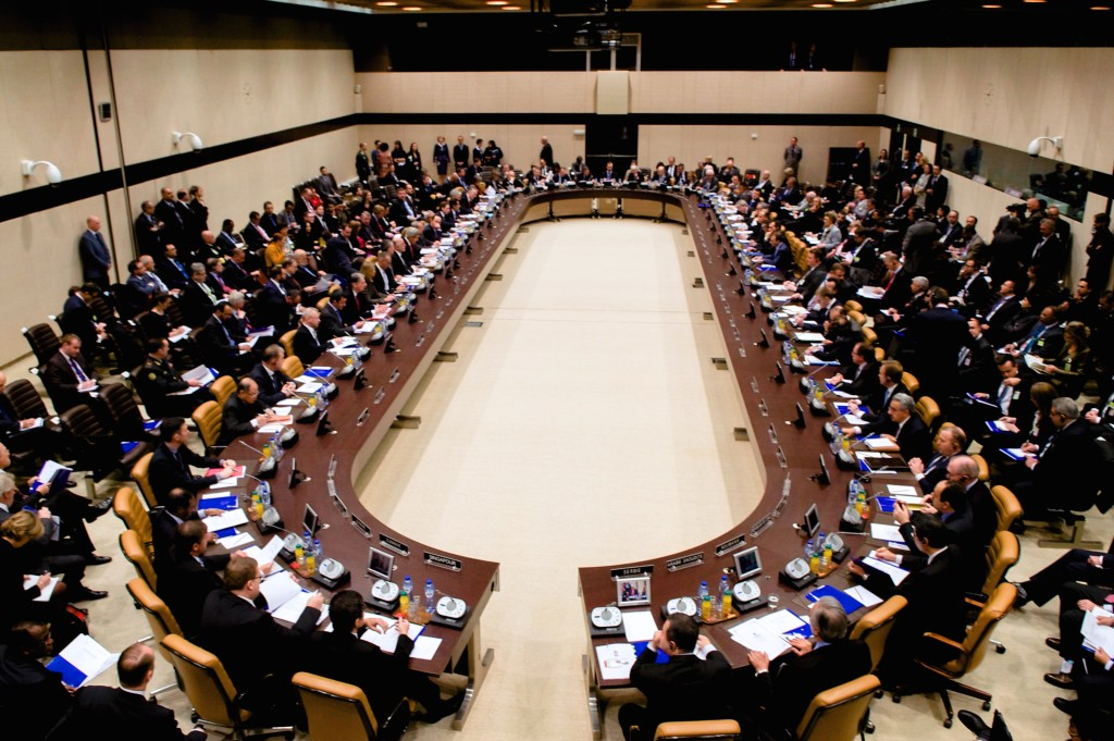 A meeting of more than 60 anti-ISIL coalition parties at NATO Headquarters in Brussels. December 3, 2014.