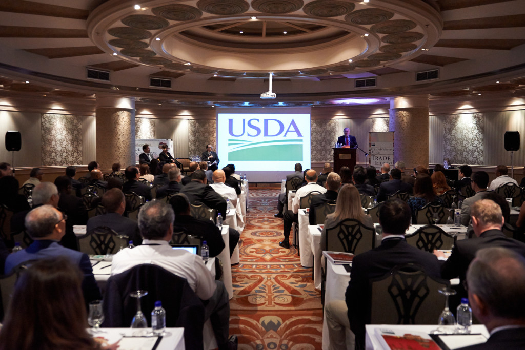 A business roundtable on agriculture was held in Johannesburg, where South African Deputy Minister of Agriculture Pieter Mulder addressed the US trade initiative. September 16, 2013. (Blake Woodhams/Flickr Creative Commons).