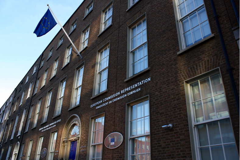 European Commission building on Mount Street. April 2016. (Photo courtesy of the author.)