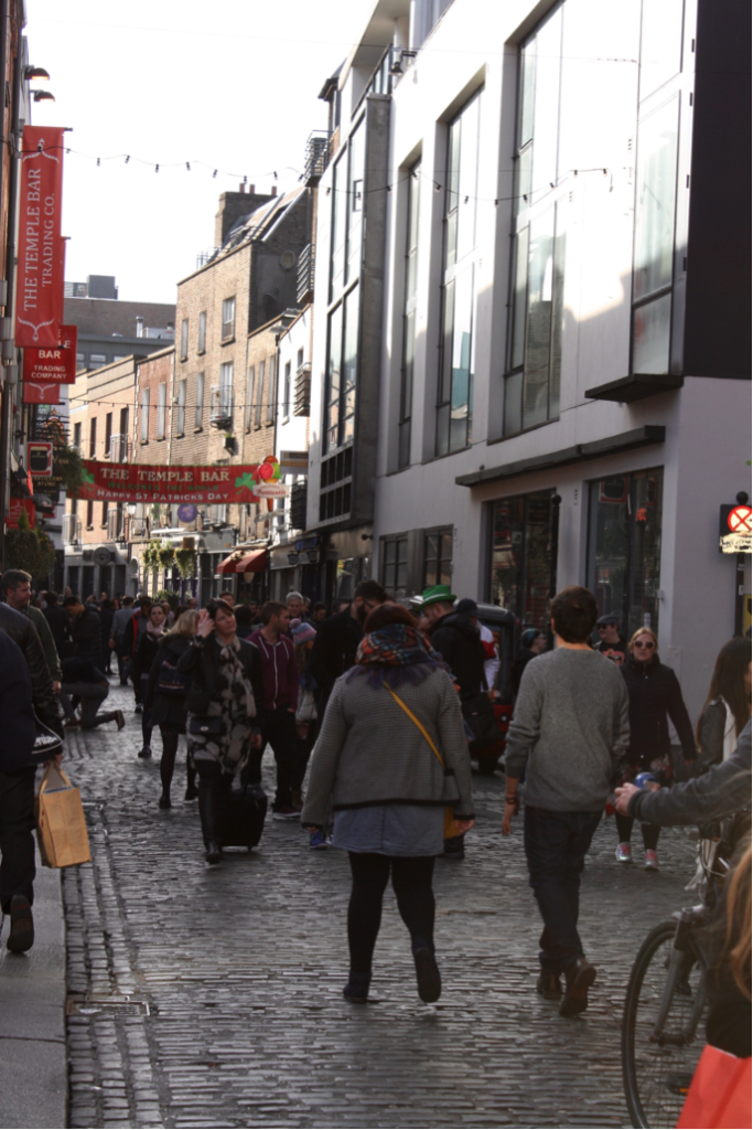 The Temple Bar: Dublin's center for tourism and culture. April 2016. (Photo courtesy of the author.)