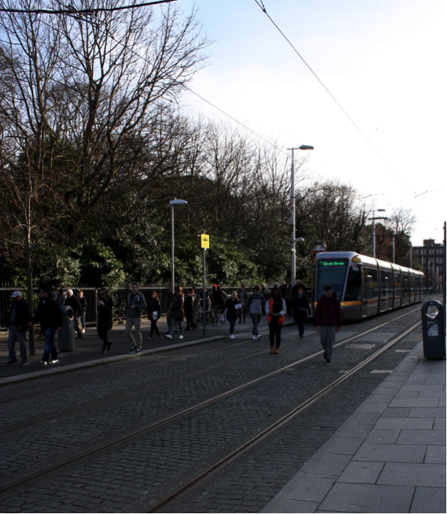 Green Line Metro Stop at St. Stephen's Green. April 2016. (Photo courtesy of the author.)