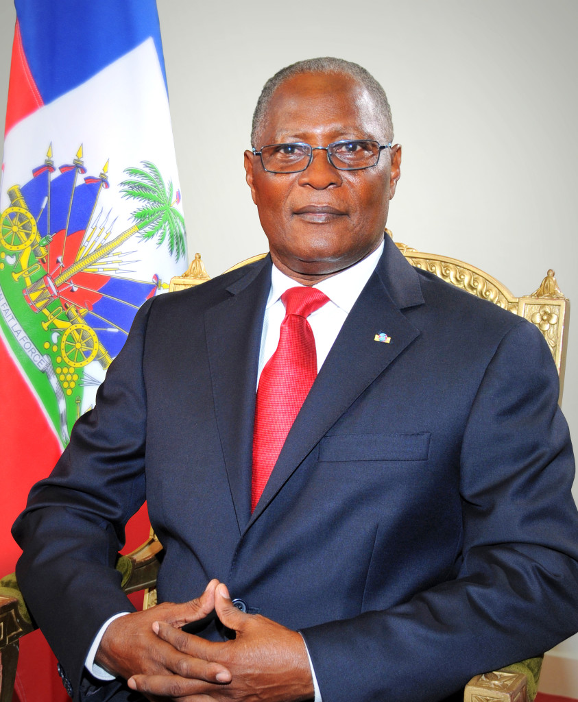 Jocelerme Privert, Haiti's interim president. March 3, 2016. (Mathieu Jean Claude, Photographe Officiel/Wikimedia Creative Commons)