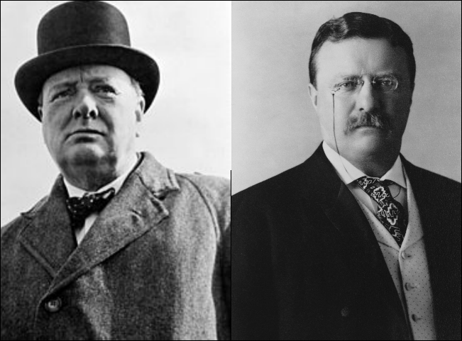 Winston Churchill and Theodore Roosevelt, two of the 20th Century's great nationalist leaders. (Wikimedia Commons)