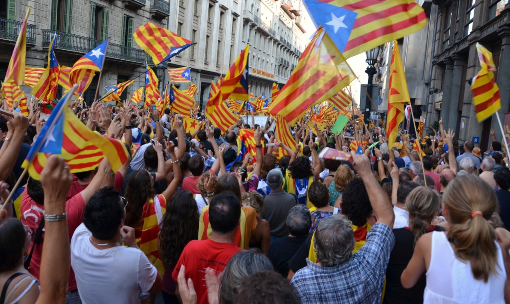 A Catalan indepence rally. 2012. (Joseph Renalias / Wikimedia Commons)