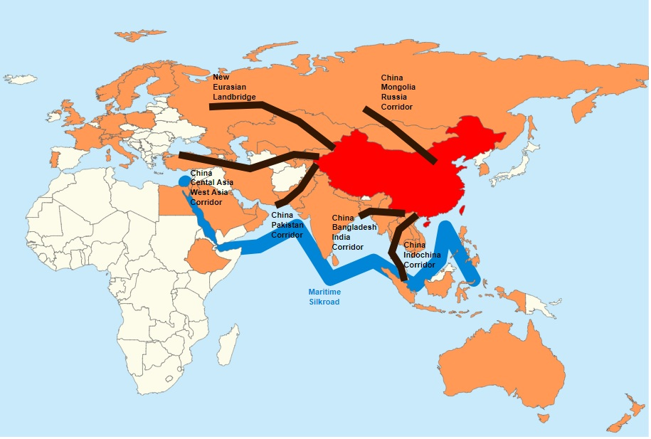 Belt and Road Initiative Map, 14 May 2017. (Lommes/Wikimedia Commons)