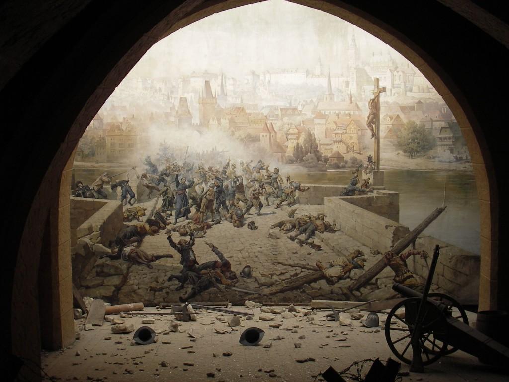 Battle on Charles Bridge in Prague in 1648