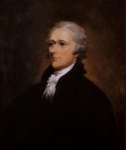 Oil on canvas portrait of Alexander Hamilton by John Trumbull. (Wikimedia Commons)