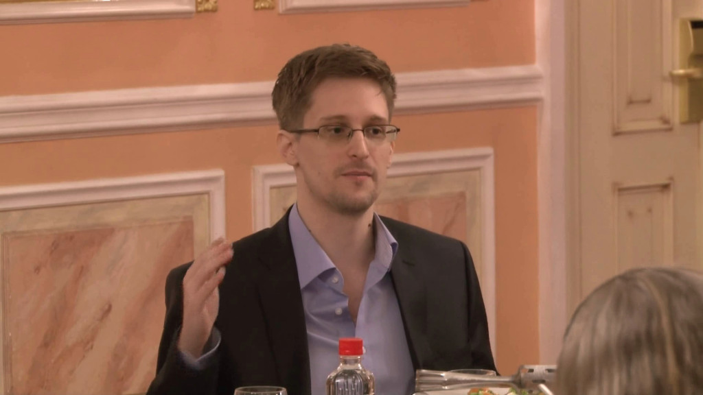 Edward Snowden Speaks About NSA Programs at Sam Awards Presentation in Moscow. October 9, 2013 (McZusatz/Wikimedia Commons)