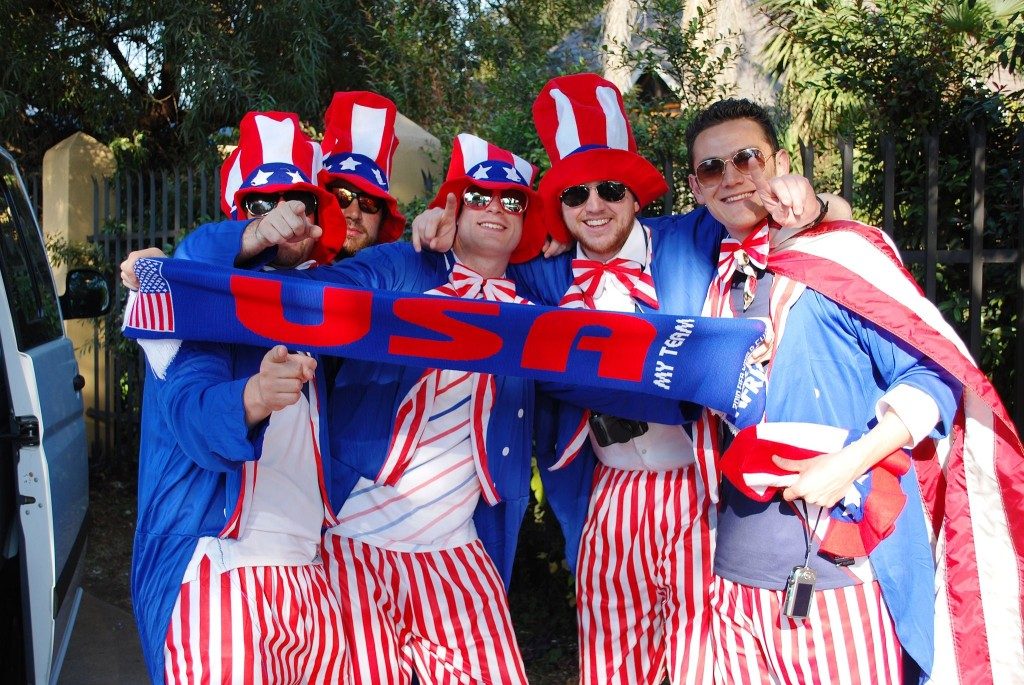 American fans before the US-Algeria match in the 2010 World Cup. June 23rd, 2010 (U.S. Department of State/Wikimedia Commons)