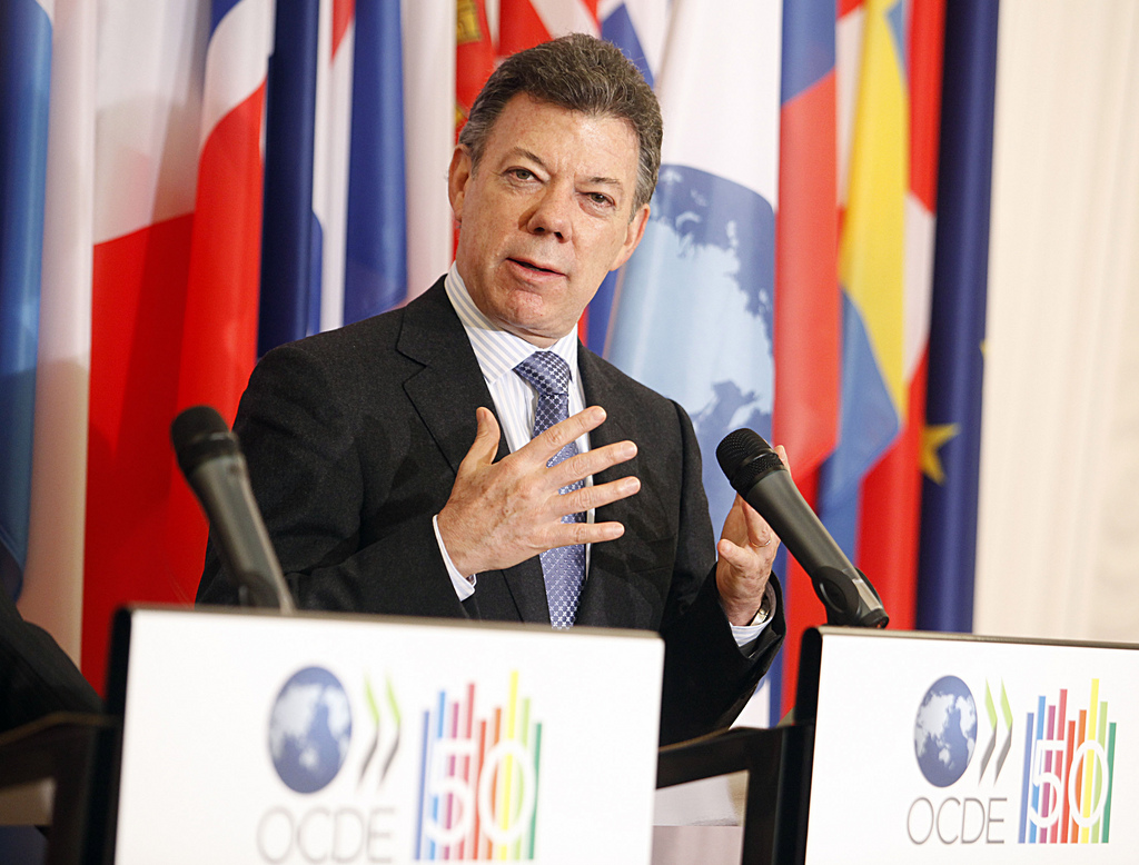 Juan Manuel Santos, President of Colombia, at the OECD. January 24, 2011. (OECD/Flickr Creative Commons)