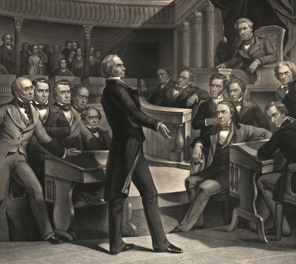 Henry Clay, the greatest proponent of the American System, addressing the Senate. (Wikimedia Commons)