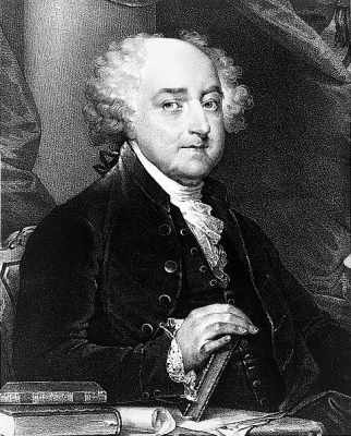 John Adams, President of the US from 1797-1801.