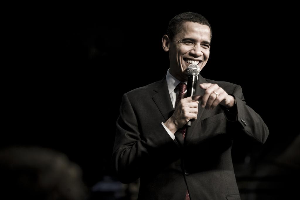 Obama at a rally in South Carolina. 2008. (Joe Crimmings, Flickr Creative Commons)