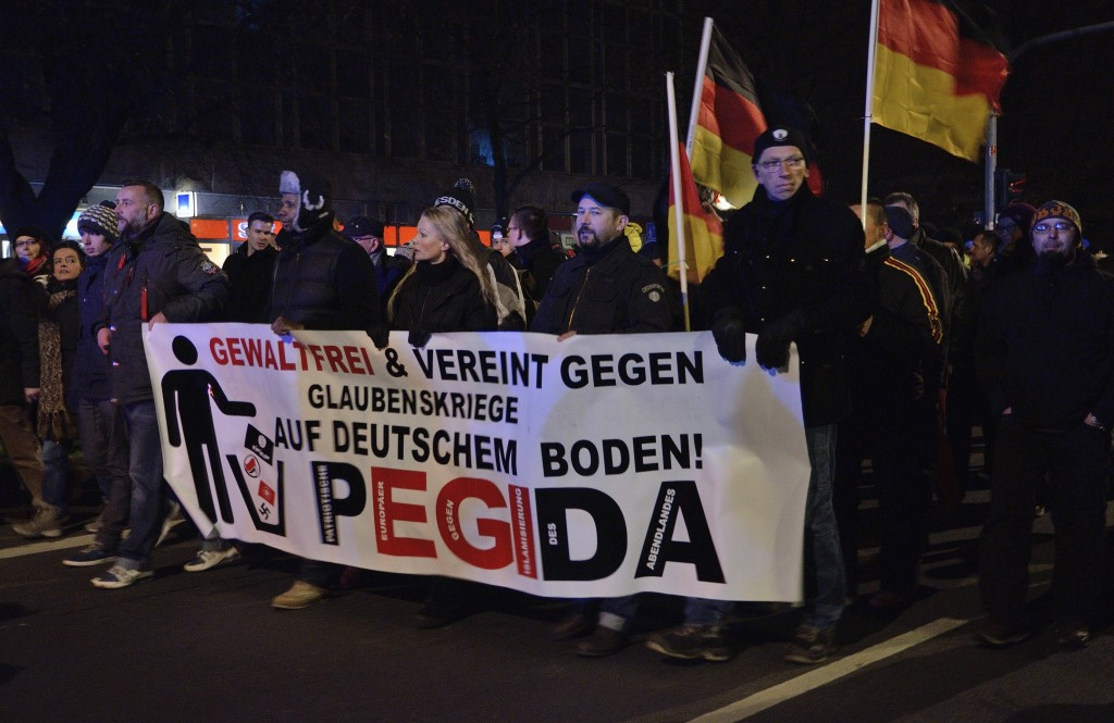 Protestors take to the streets of Dresden. December 1, 2014. (Caruso Pinguin/Flickr Creative Commons)