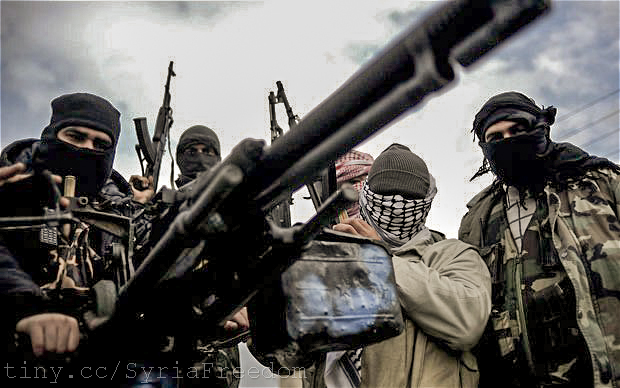 Syrian rebel army on patrol.  March 6, 2012. (Freedom House/Flickr Creative Commons)