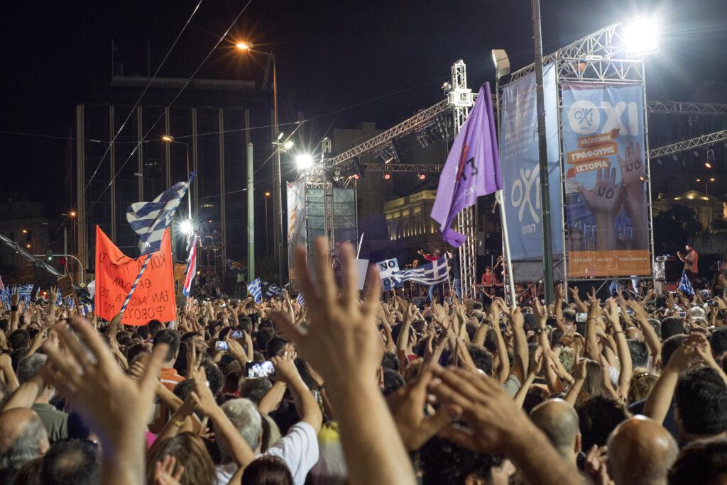 20150703_Greek_Referendum_Demonstration_for_NO_syntagma_square_Athens_Greece