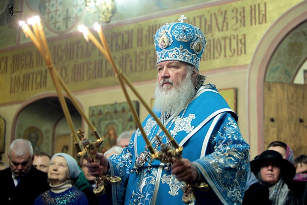 """Patriarch Kirill, or """"The Holiest"""", oscillates between marketing tool and weighty symbolism. (Larry Koester/Flickr)"""