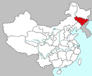 Location of Jilin, bordering North Korea. (Fanghong, Wikimedia Commons)