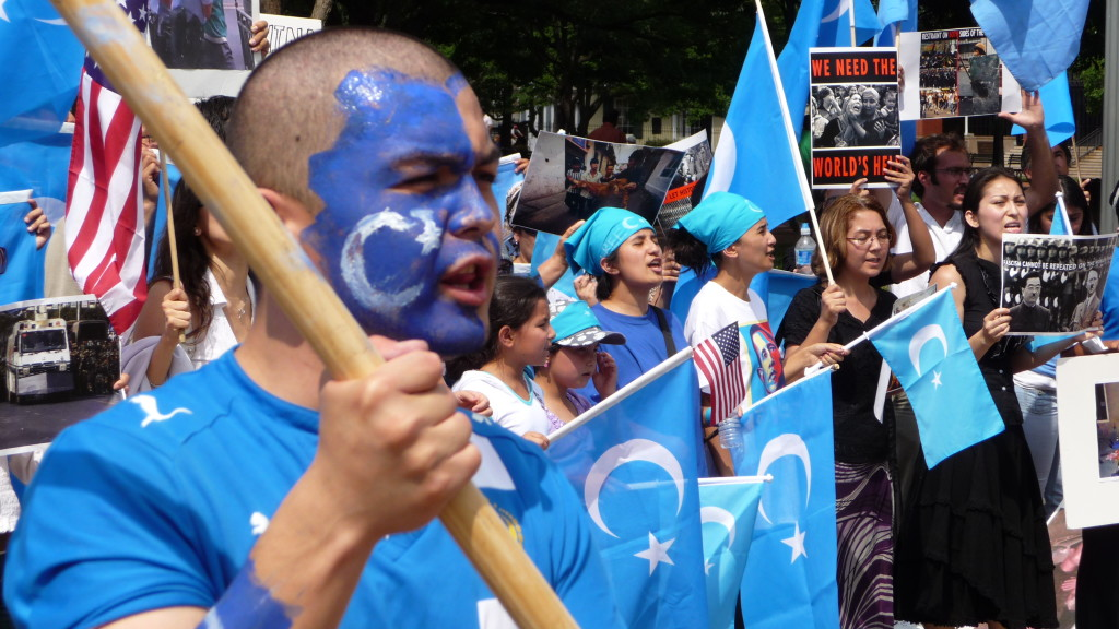 An anti-China, Uyghur protest in DC after  the 2009 Urumqi riots. (Rjanag, Wikimedia Commons)