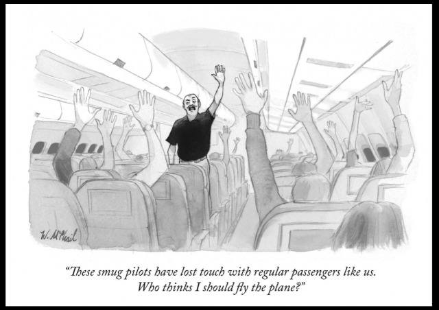 Now-infamous New Yorker cartoon showcases elite liberal contempt for 'ignorant' populism. (Jacobson/legalinsurrection)