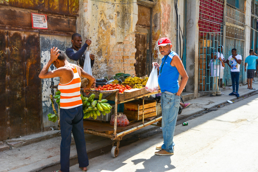 Food Kiosk in Old Havana.